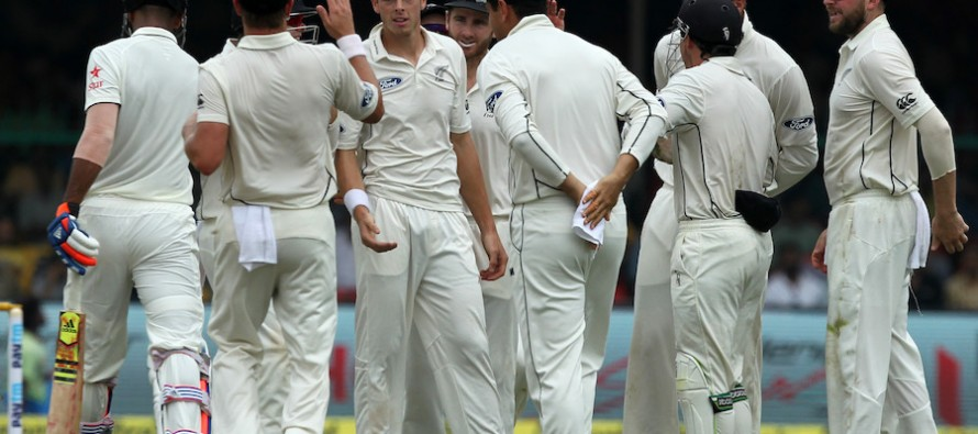Santner, Boult peg NZ back in India's 500th Test