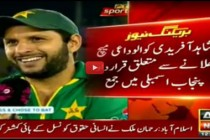 Petition filed in Punjab Assembly for Afridi's farewell match