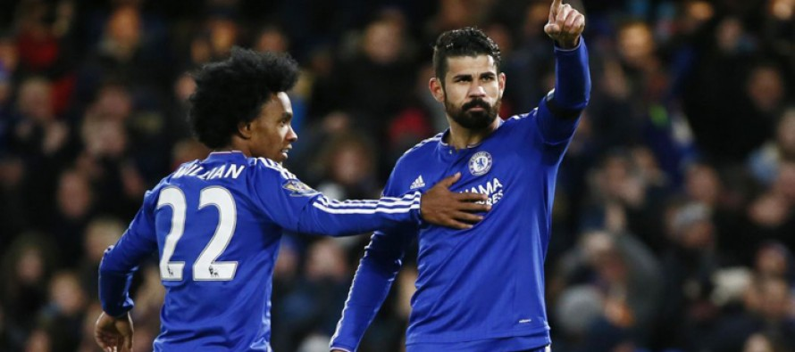 Willian and Costa steady Chelsea ship
