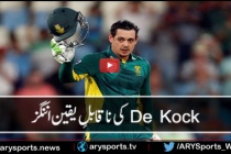 Quinton De Kock 178 runs of 113 balls vs Australia 1st ODI Highlights 2016