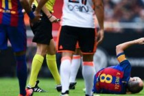 Tearful Iniesta out for six to eight weeks