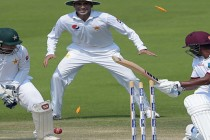 West Indies struggle as they chase 456 runs for victory