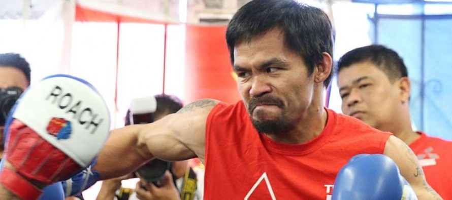 Pacquiao not slowing down in build up to Vargas fight