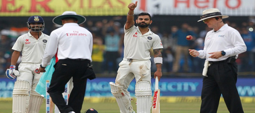 Ton-up Kohli steers India to 267/3 against NZ
