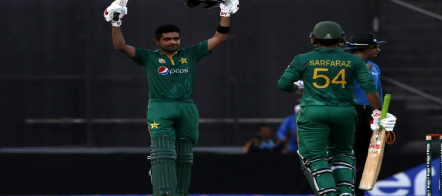 Babar Azam hits second consecutive century as Pakistan post 337