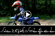 Child performs stunts which professionals have trouble performing them