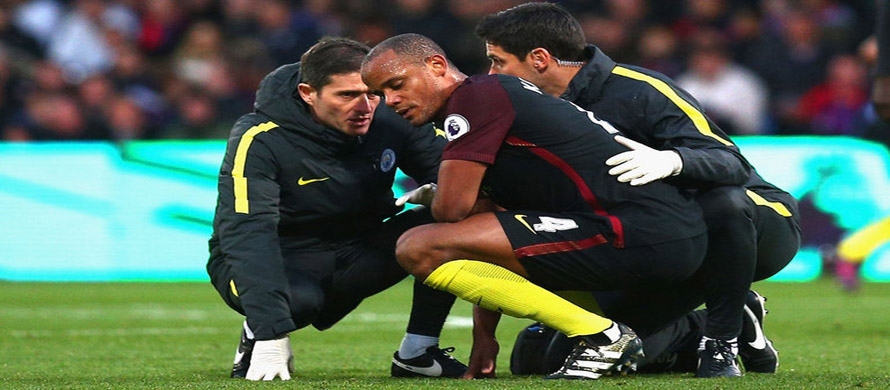 Manchester City's Kompany out for weeks says Guardiola
