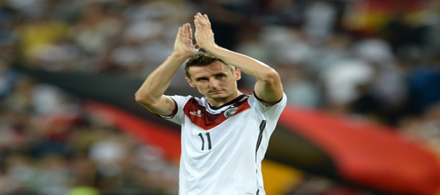 World Cup top-scorer Klose retires at 38