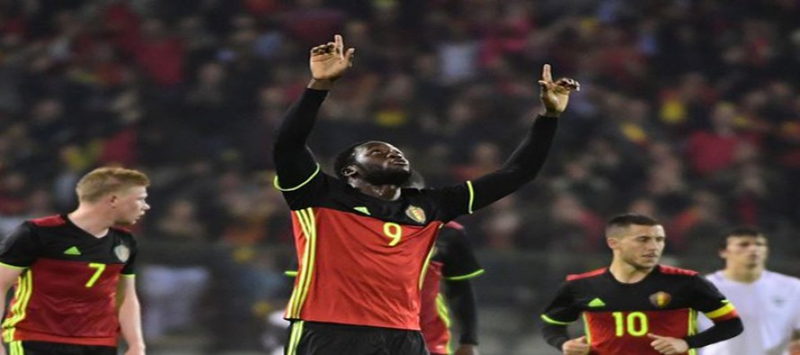 Lukaku gets a kick from Belgium's all-out attack
