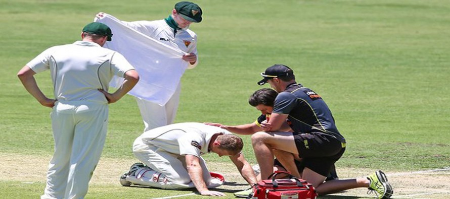 Voges concussed after struck on head by bouncer