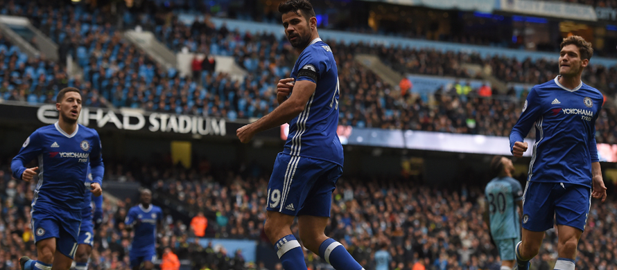 Costa keeps Chelsea flying as Man City lose their cool