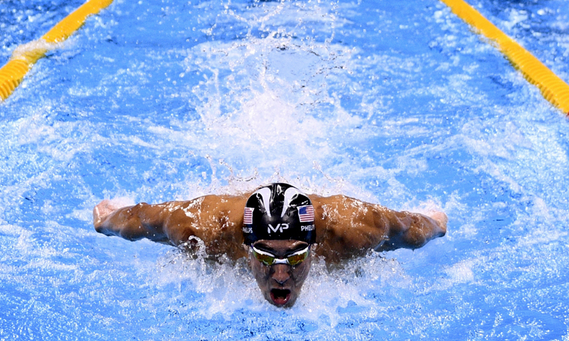 This file photo taken on August 11, 2016 shows USA's Michael Phelps competing in the Men's 200m Individual Medley Semifinal during the swimming event at the Rio 2016 Olympic Games at the Olympic Aquatics Stadium in Rio de Janeiro. (PHOTO: AFP)