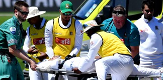Mushfiqur 'fine' after taking hit to the head