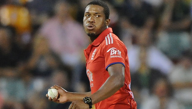 Chris-Jordan-of-England-fields-off-his-own-bowling-during-the-second-game-of-the