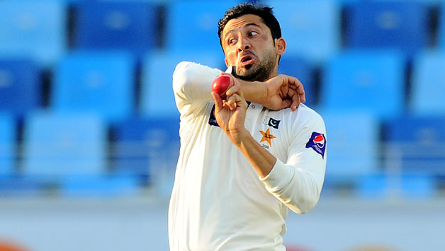 Junaid-Khan-delivers-a-ball-during-the-second-day-of-the-second-cricket-Test-match-between-Pakistan-and-Sri-Lanka