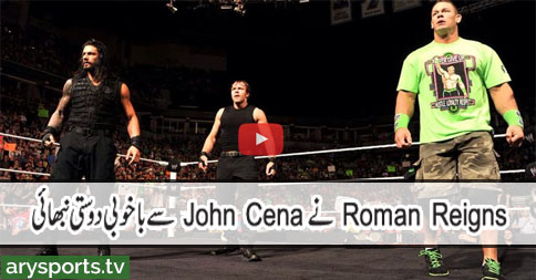 WWE - Raw - John Cena, Dean Ambrose & Roman Reigns Vs The