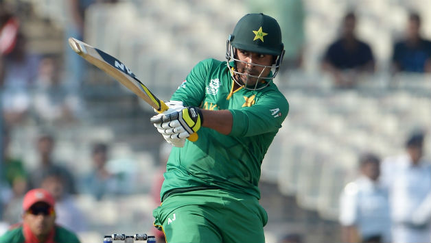 Pakistans-Sharjeel-Khan-plays-a-shot-during-the-World-T20-tournament-cricket-match-between-Bangladesh-and-Pakistan-at-The-Eden-Gardens-Cricket