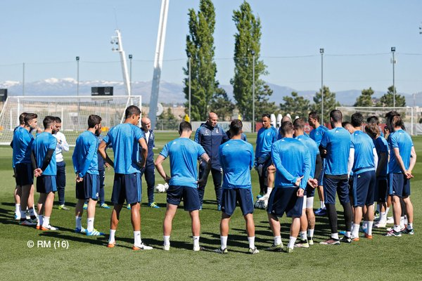 Real Madrid training session- Courtesy RM twitter account
