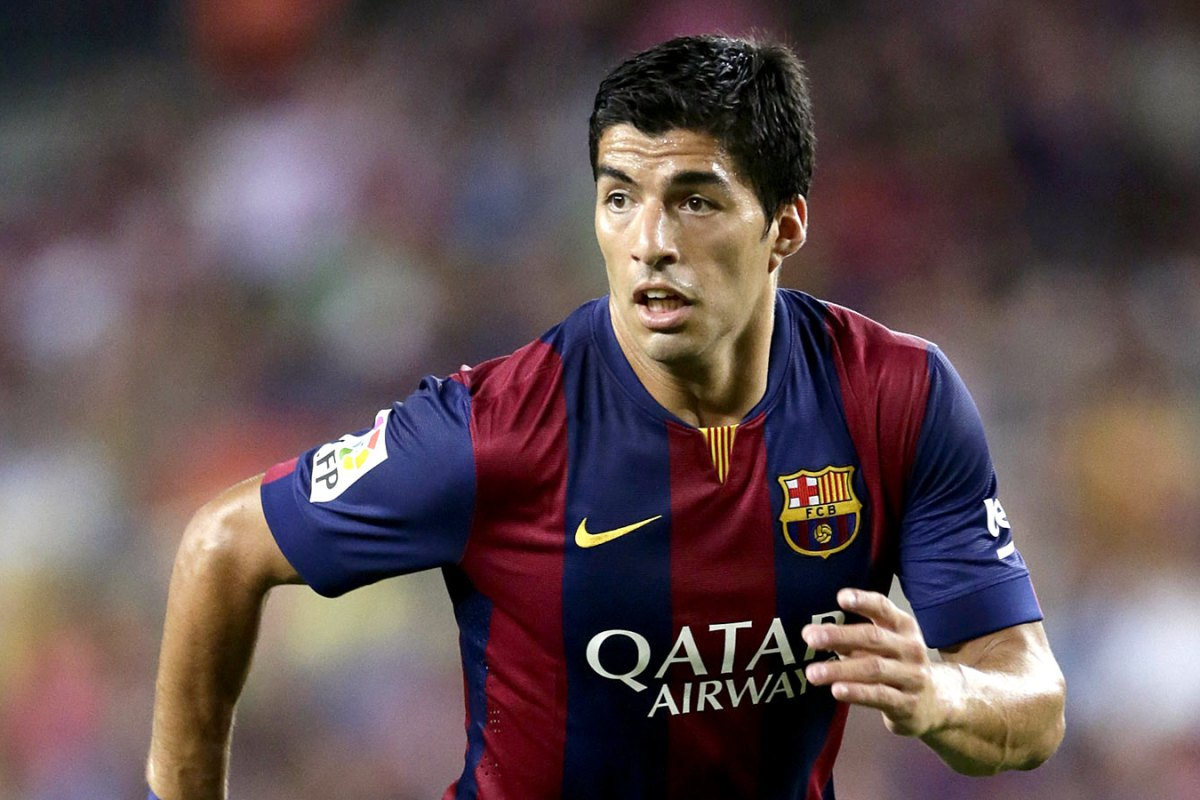 Luis Suarez of FC Barcelona during the Joan Gamper Trophy match between FC Barcelona and Leon F.C. at Camp Nou on august 18, 2014 in Barcelona, Spain(Photo by VI Images via Getty Images)