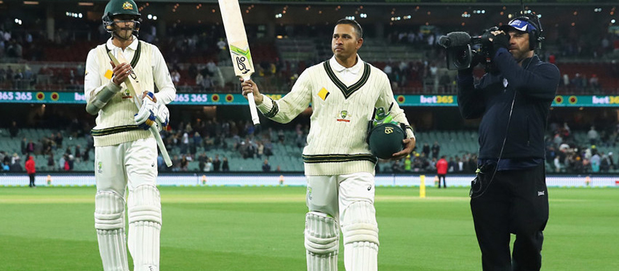 Khawaja century powers Aussies ahead of Proteas