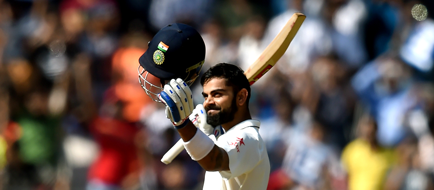 India's Kohli hits double century against England