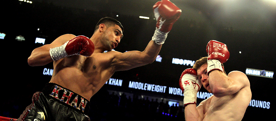 British stars Khan and Brook in talks about bout