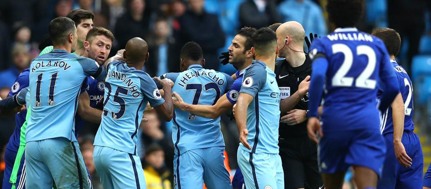 Chelsea and Man City fined for fracas