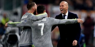 Zidane celebrates flawless year at Madrid