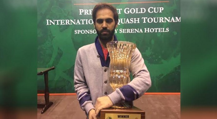 Farhan Mehboob wins President Gold Cup International Squash Tournament