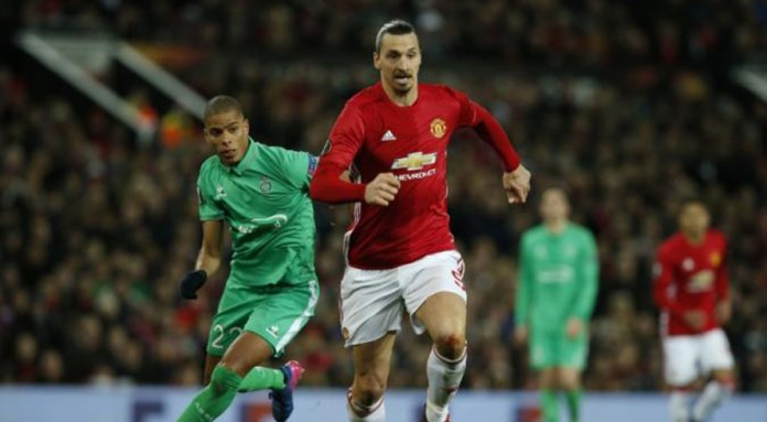Hat-tricks for United's Ibrahimovic, Roma's Dzeko