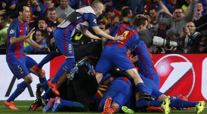 Miracle at the Nou Camp as Barca stun PSG 6-1