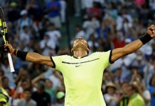Nadal on track for Federer showdown as Sock downed
