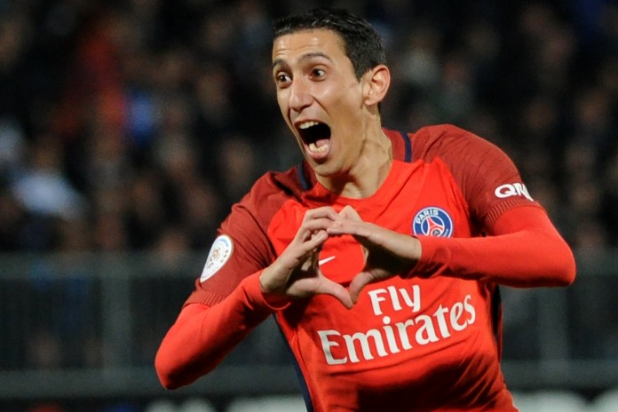Di Maria sends PSG level with Monaco