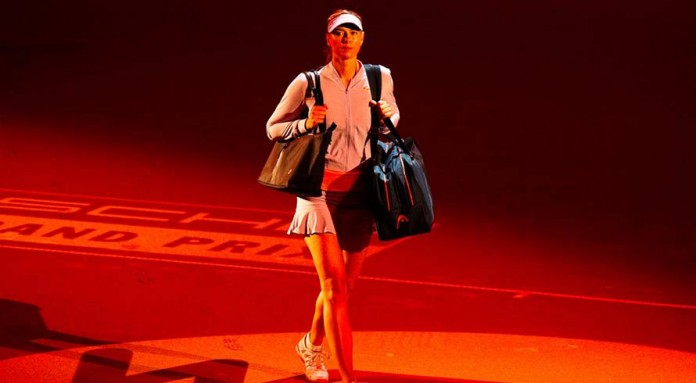 'Happy' Sharapova falls in semi-finals on doping comeback