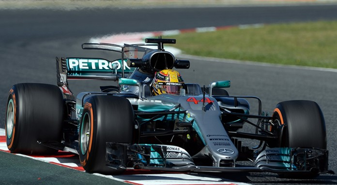 Hamilton back on top in Spain
