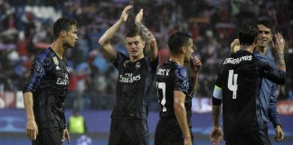 Real survive early Atletico onslaught to reach final