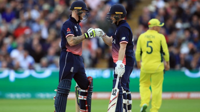 Stokes and Morgan knock Australia out of Champions Trophy