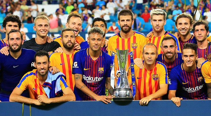 Barcelona with trophy