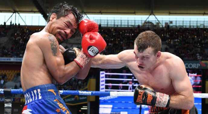 Horn stuns Pacquiao to win WBO welterweight world title