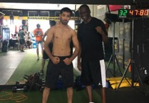 Waseem gears up for a warm up fight on Wednesday