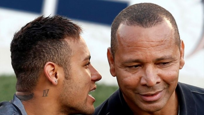 Neymar with his father