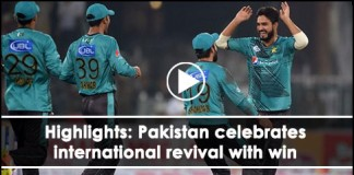 Pakistan celebrates international revival with win