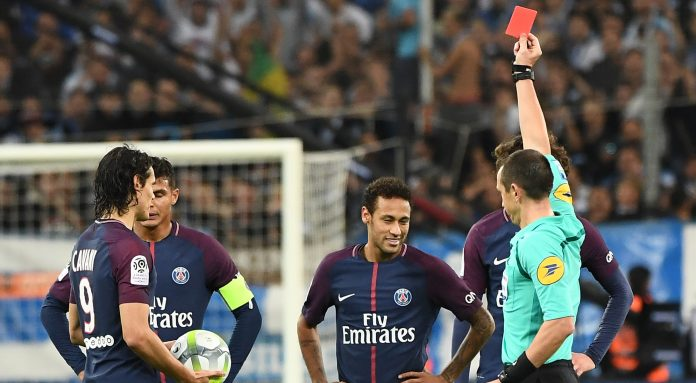 Neymar sees red as PSG snatch Marseille draw