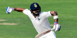 Kohli hits landmark ton in Sri Lanka Test
