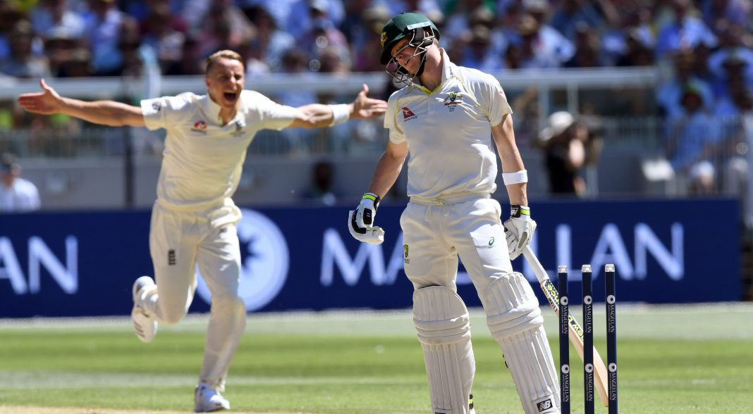 England end incredible Smith run as Australia all out for 327