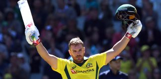 Finch ton helps Australia to big total in 1st England ODI