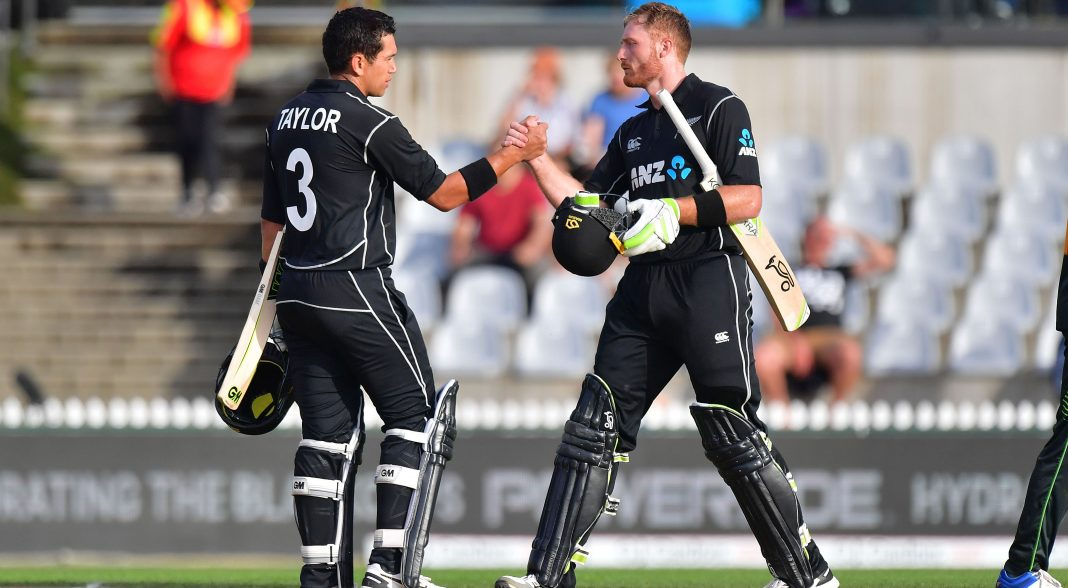 Taylor, Guptill lead New Zealand to win in a rain-affected contest