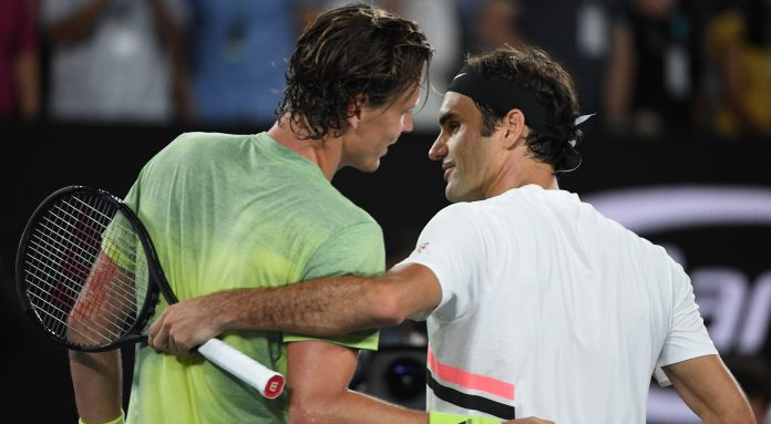 Federer relishes emergence of young guns at Open