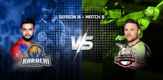 Karachi Kings taking on Lahore Qalandars