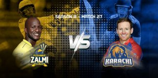 Karachi Kings Peshawar zalmi Pakistan Super League